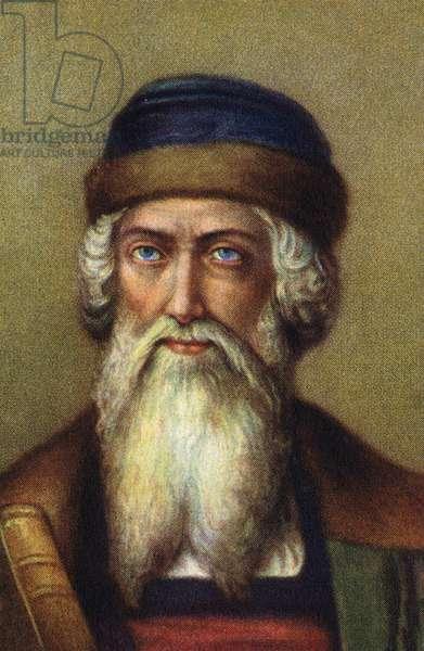 Portrait of Johannes Gensfleisch dit Gutenberg (1394/99-1468), German printer.