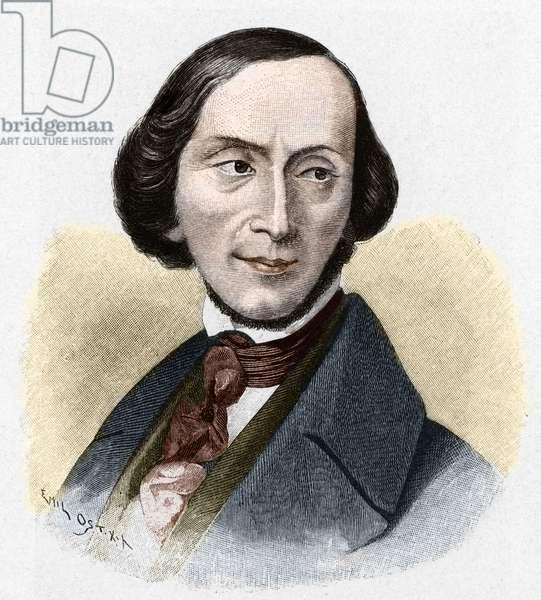 Portrait of Hans Christian Andersen (1805-1875), Danish writer.