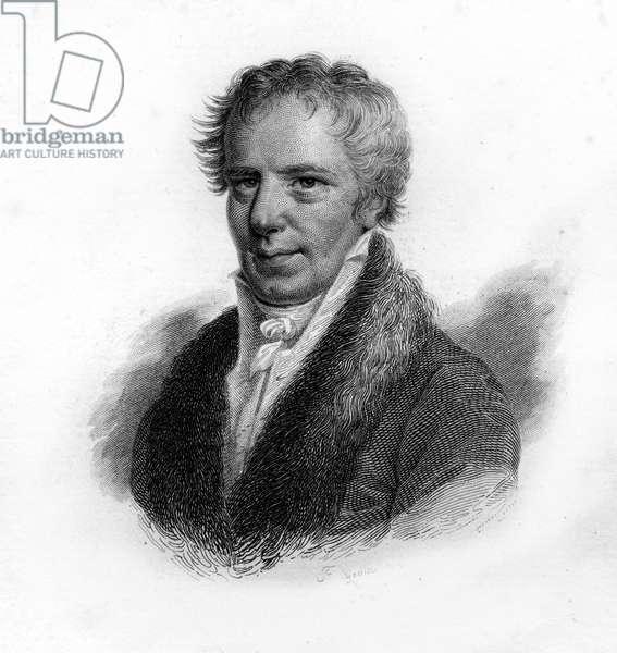 Portrait of Alexander Von Humboldt (Alexander of Humboldt, 1769-1859) German naturalist and traveler. Engraving of the 19th century