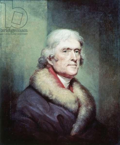 Portrait of Thomas Jefferson (1743 - 1826) by Peale Rembrandt (1778 - 1860).