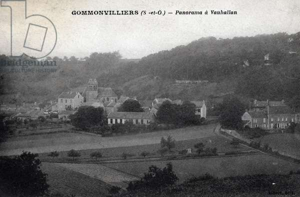 Panorama in Vauhallan, Gommonvilliers, Essonne - 1910s, postcard. France, 20th century.