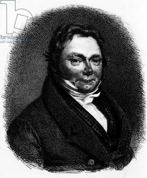 Portrait of Jons Jacobson BERZELIUS (1779-1848), Swedish chemist - Engraving of the 19th century