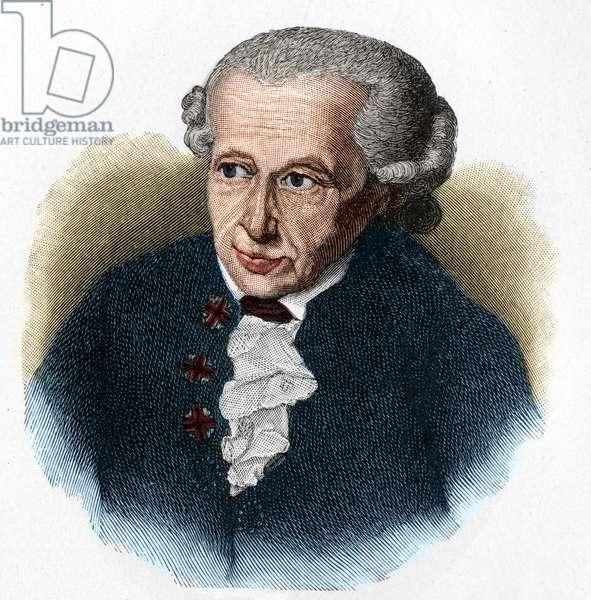 Portrait of Emmanuel Kant (Immanuel Kant, 1724-1804), German philosopher (engraving)