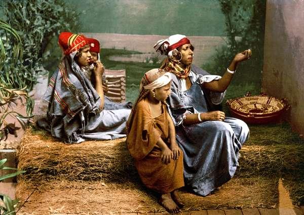 Les Bedouins en Tunisie, Photochrome, sd. v. 1900.