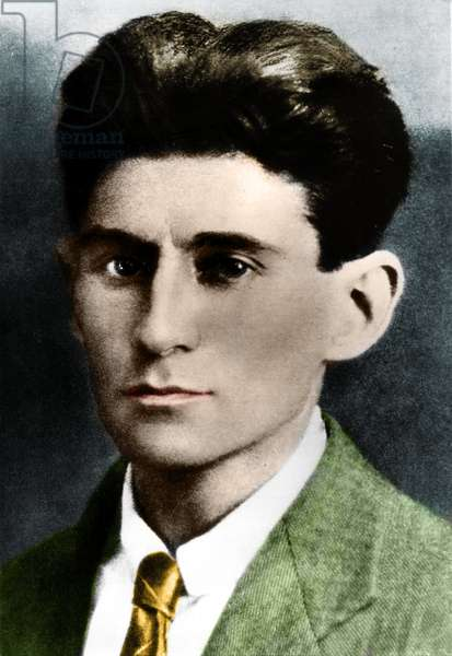 Portrait of writer Franz Kafka in 1914.