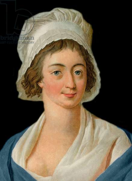 Portrait of Marie Anne Charlotte Corday (1768-1793) Engraved by Pierre Michel Alix (1762-1817)