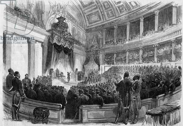 Leopold II (1835-1909), King of the Belgians, took an oath before the great bodies of the state in 1865.