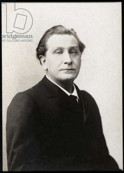 Portrait of Francois Coppee (1842-1908), French poet and novelist.