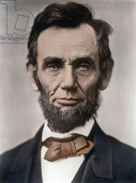 Portrait of Abraham Lincoln - Portrait of Abraham Lincoln (1809-1865) 16th President of the United States of America. Photograph by Alexander Gardner, (1821-1882)