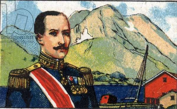 Portrait of Haakon VII (1872-1957), King of Norway.