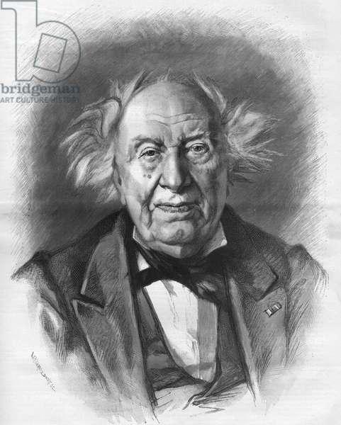 Michel Eugene (Michel-Eugene) Chevreul (1786-1889), French chemist.