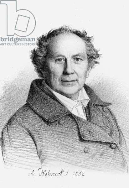 Portrait of Friedrich Wilhelm August Argelander, (1799 - 1875) German astronomer