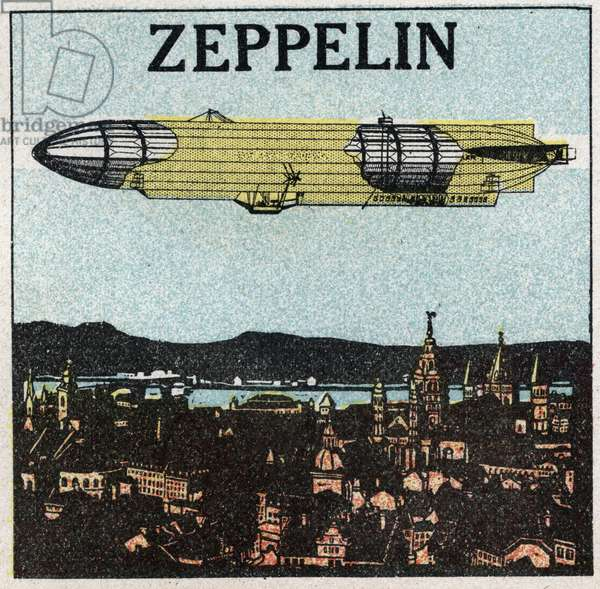 The balloons: zeppelin. Anonymous illustration of 1925.