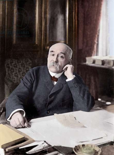 Portrait of Georges Clemenceau (1841-1929), French politician and journalist 1910 - Georges Clemenceau (1841-1929), homme politique francais