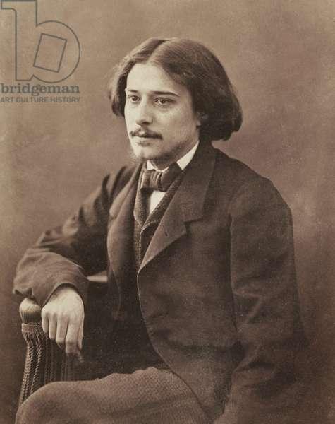 Portrait of the writer Alphonse Daudet (1840-1897) by Nadar, Gaspard-Felix (1820-1910)