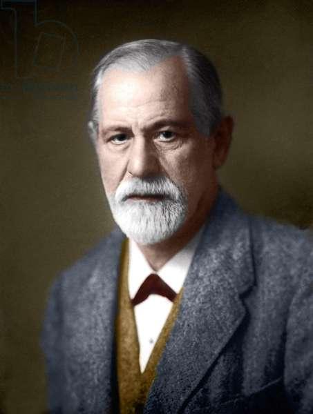 Portrait of Sigmund Freud (1856-1939), Austrian psychiatrist.