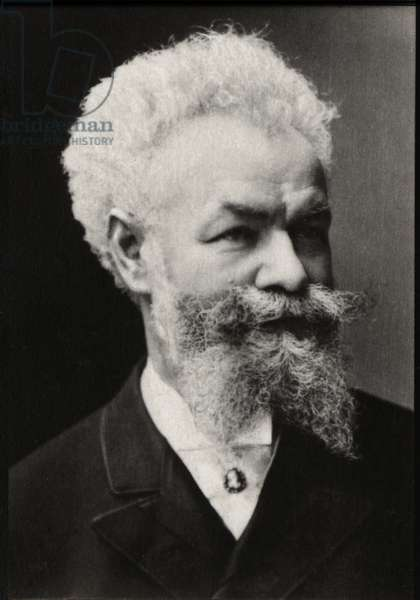 Portrait of Mihaly Munkacsy (1844-1900), Hungarian painter.
