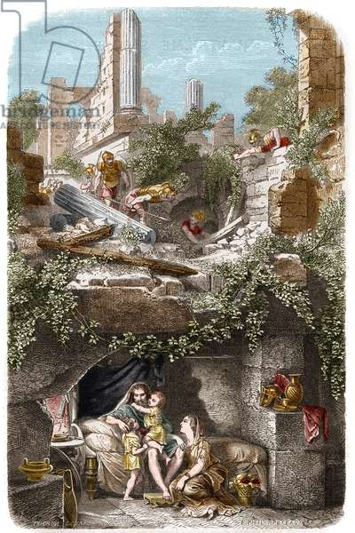 Persecution of Christians in the first century: the Christians hidden in the catacombs