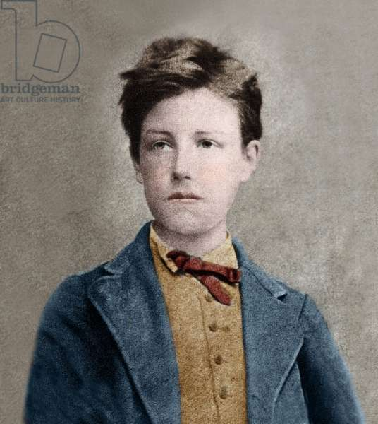 Portrait of Arthur Rimbaud (1859 - 1891), based on Carjat's photo.