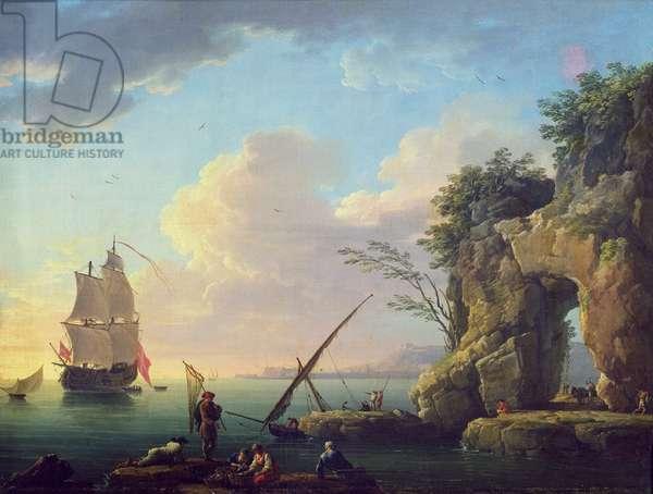 Seascape, 1748 (oil on canvas)