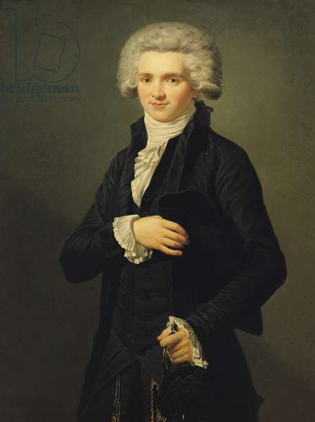 Maximilien de Robespierre (1758-94) 1791 (oil on canvas)