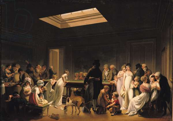 A Game of Billiards, 1807 (oil on canvas)