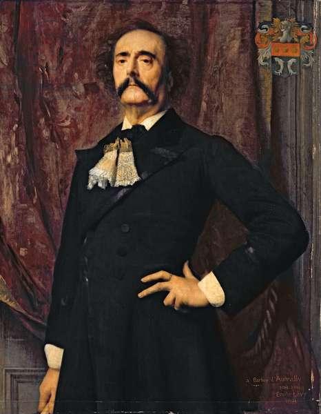 Portrait of Jules Barbey d'Aurevilly (1808-89) 1881 (oil on canvas)