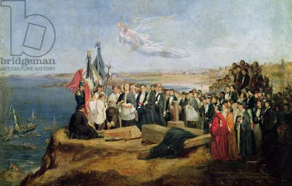 Burial of the Vicomte de Chateaubriand (1768-1848) at Grand-Be, 19th July 1848 (oil on canvas)
