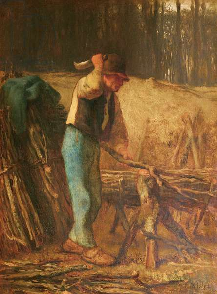The Wood Splitter (oil on canvas)