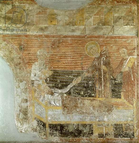 St. Severinus (d.507) curing Clovis I (465-511) (fresco) (see also 177181)
