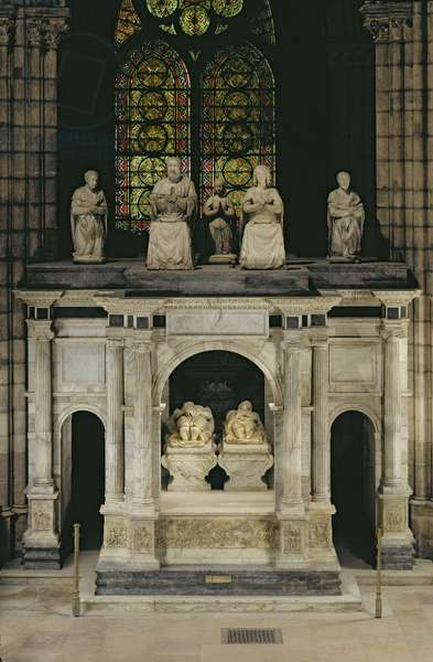 The Tomb of Francois I (1494-1547) and Claude of France (1499-1524) (marble)