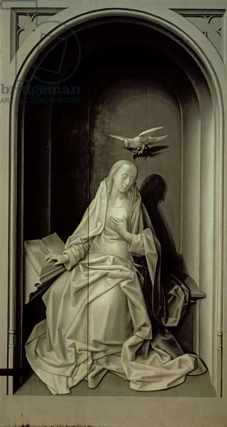 The Virgin of the Annunciation, from the Portinari Triptych, c.1479 (oil on panel)