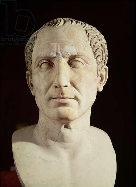 Bust of Julius Caesar (100-44 BC) (marble)