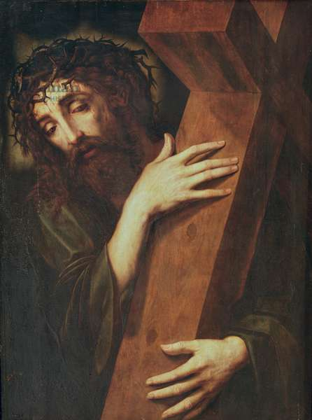 Christ Carrying the Cross (oil on panel)