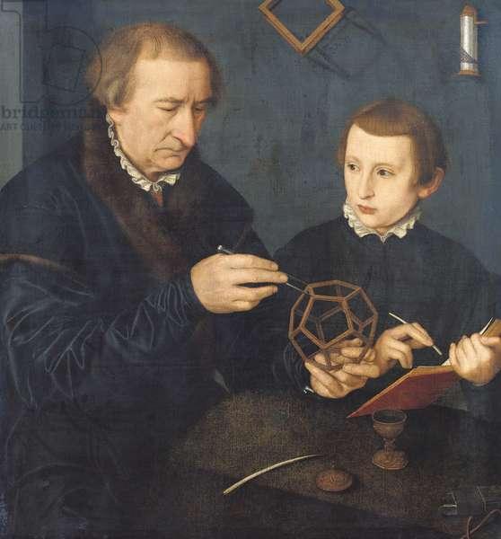 Johann I Neudorfer and his Son, 1561 (oil on canvas)