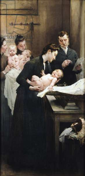 The Drop of Milk in Belleville: Doctor Variot's Surgery, The Weighing Session, 1903 (oil on canvas)
