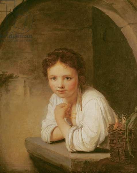 The Little Gardener (oil on canvas)