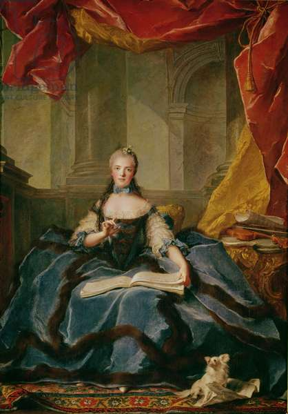 Madame Adelaide de France (1732-1800) in Court Dress, 1758 (oil on canvas)