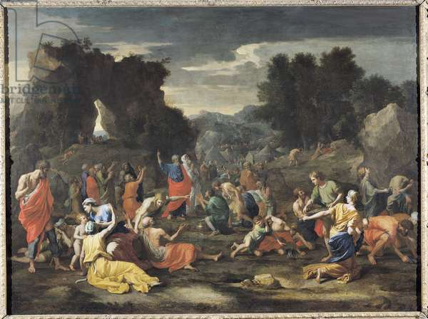 The Gathering of Manna, c.1637-9 (oil on canvas)
