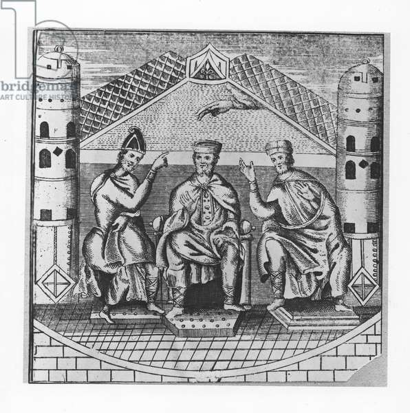Charlemagne and his Advisers (engraving)