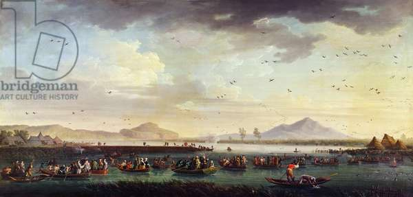 Charles III of Bourbon, King of Sapin and of the Kingdom of Two-Sicilies Duck Hunting at the Patria Lake in 1746, 1749 (oil on canvas)