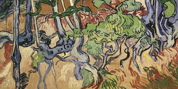 Tree roots, 1890 (oil on canvas)