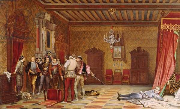 The Assassination of Henri de Lorraine (1549-88) duc de Guise, 1834 (oil on canvas)
