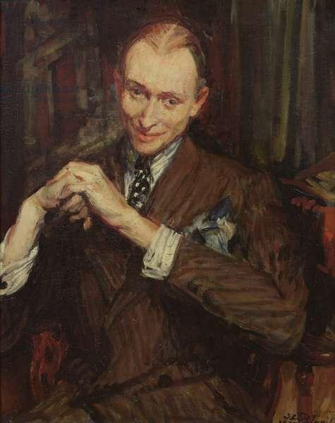 Portrait of J. Raulet (oil on canvas)