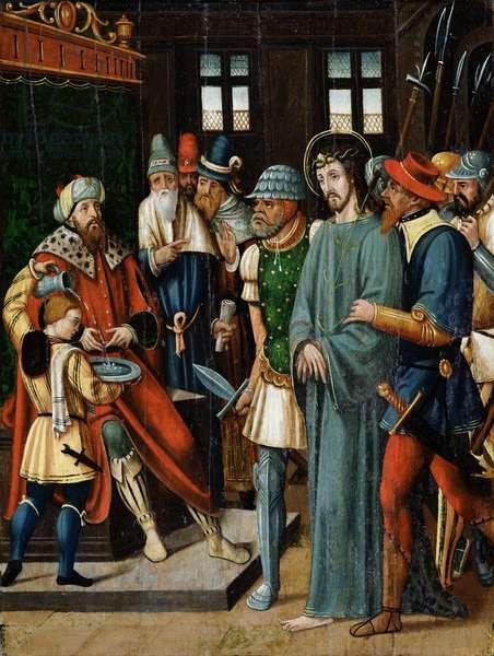 Jesus Before Pilate (oil on panel)