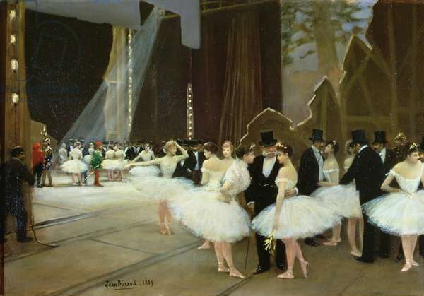 In the Wings at the Opera House, 1889 (oil on canvas)