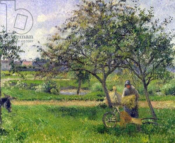 The Wheelbarrow, Orchard, c.1881 (oil on canvas)