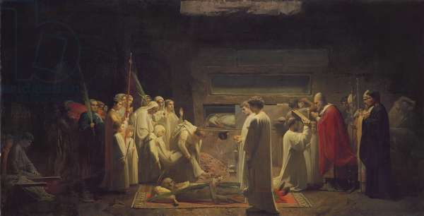 The Martyrs in the Catacombs, 1855 (oil on canvas)