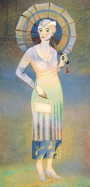 The Parisian, 1931 (pastel on paper)