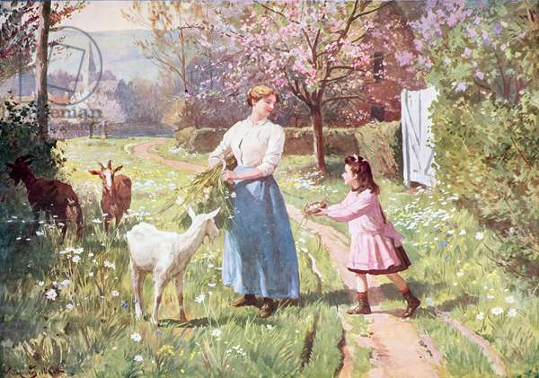 Easter Eggs in the Country, 1908 (colour litho)